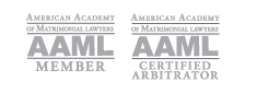 An American Academy of Matrimonial Lawyers AAML member and certified arbitrator